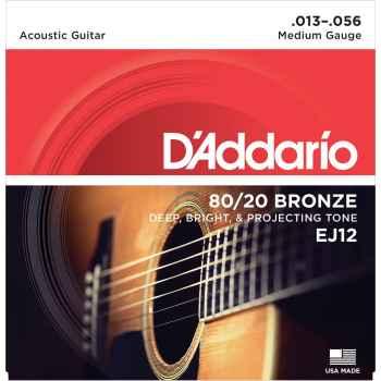 D´addario EJ12 80/20 Bronze Medium cuerdas para Guitarra Acústica